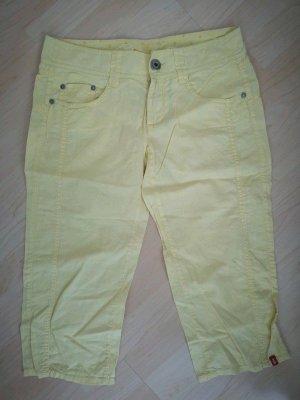 Sommerhose aus Leinen, Esprit gr.36, S, gelb, bermudas