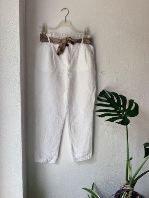 Sommerhose aus Leinen mit Gürtel von C&A Gr. 38