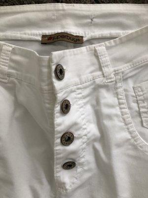 Superbugs Pantalón de cinco bolsillos blanco Algodón