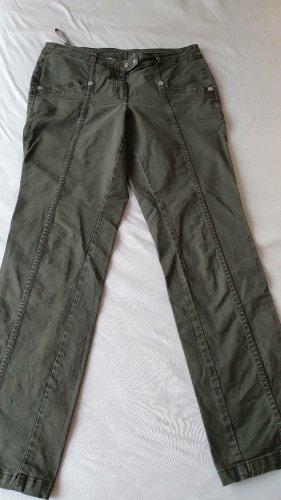 Basic Line Stoffen broek groen-grijs Katoen