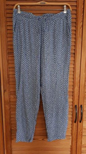 Pantalone bloomers bianco-blu