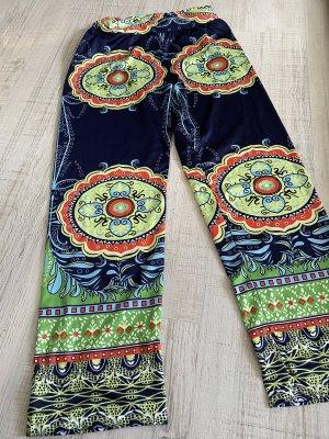 Pantalone Capri multicolore Lycra