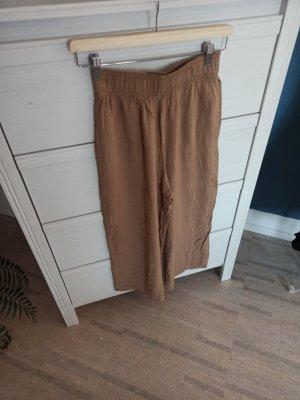 H&M Pantalon en lin brun-beige