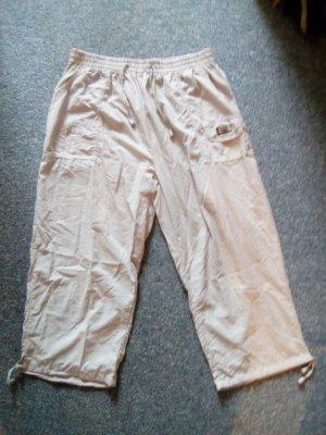 Pantalone a 3/4 beige chiaro Poliestere
