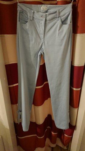 Together Pantalón de cinco bolsillos azul celeste tejido mezclado
