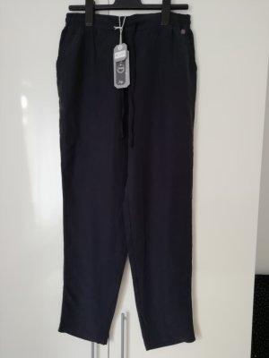 Multiblu Pantalon en jersey argenté-bleu foncé