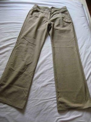 H&M Pantalon en lin beige clair