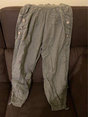 forever me Spodnie typu boyfriend zielono-szary