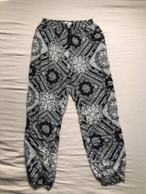 seventyseven Pantalon large noir-blanc