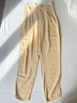 Mango High Waist Trousers gold orange-primrose
