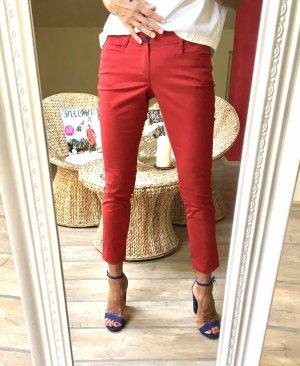 Mango Basics Pantalón de cinco bolsillos rojo