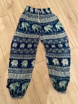 no name Pantalon large multicolore