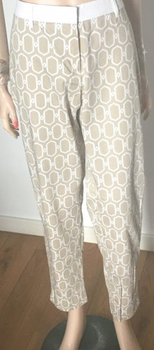 Raffaello Rossi 7/8 Length Trousers cream-white cotton