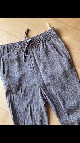 Pantalone alla turca marrone-grigio