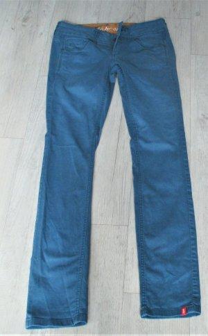 edc by Esprit Pantalone cinque tasche blu acciaio-blu cadetto Cotone