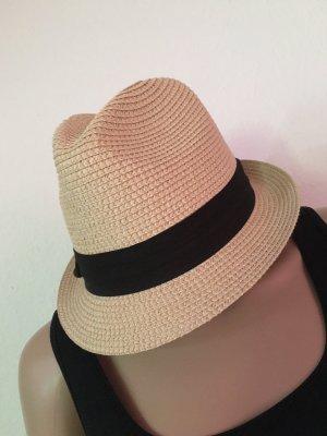 C&A Chapeau de paille crème-noir