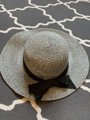 Chapeau de soleil argenté-noir