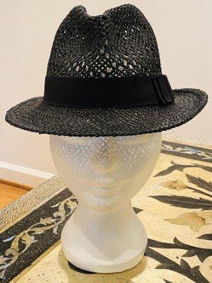 Cappello di paglia antracite-nero