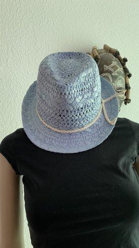 Beeline Kapelusz przeciwsłoneczny błękitny-w kolorze białej wełny