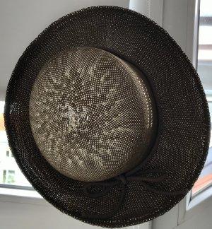 Cappello di paglia marrone chiaro-bianco sporco