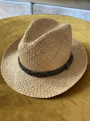 Cappello Panama beige-marrone scuro