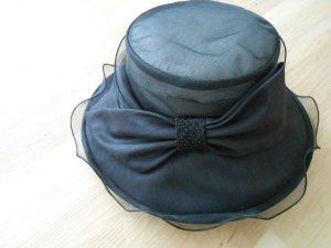 Sombrero de ala ancha negro Fibra sintética