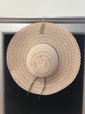 Chapeau de soleil vieux rose