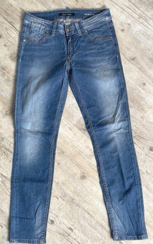 Marc O'Polo Jeans elasticizzati blu acciaio Tessuto misto