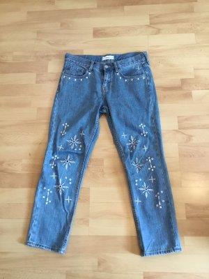 keine Marke Jeans a 7/8 azzurro