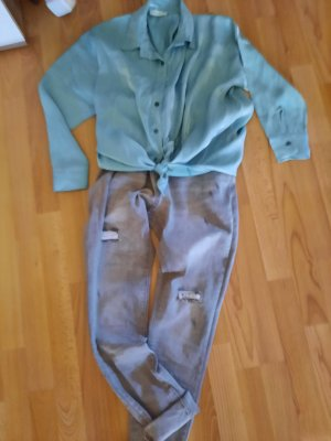 JEWELLY Jeans baggy gris clair