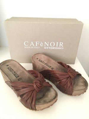 Café Noir Platform Sandals brown-grey brown leather
