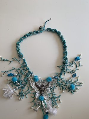 Shell Necklace white-baby blue