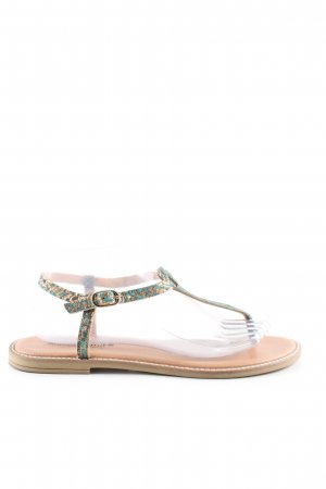 Sommerkind Dianette Sandals turquoise-gold-colored casual look