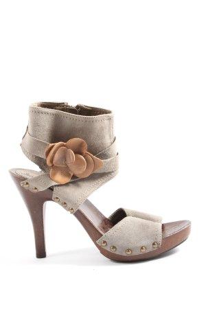 Sommerkind High Heel Sandaletten braun Elegant