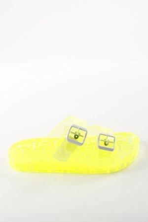 Sommerkind Riemchen-Sandaletten blassgelb Casual-Look