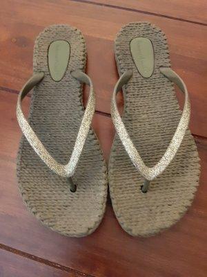 Sommerkind Toe-Post sandals khaki