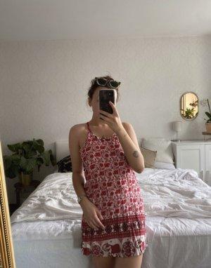 Halter Dress red-white
