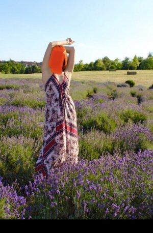 Amisu Robe épaules nues multicolore