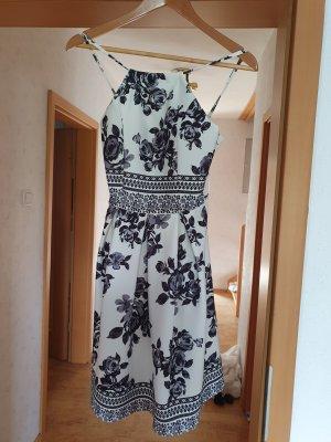 Kult Sukienka bez ramiączek biały-czarny