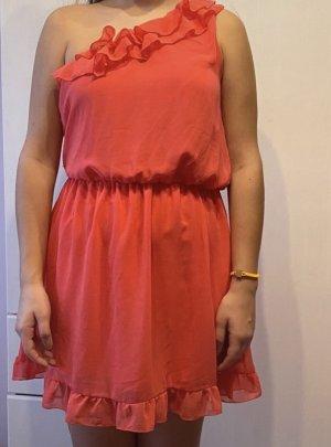 Amisu Vestido de un hombro rojo claro