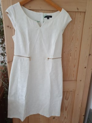 Comma Vestido ceñido de tubo blanco puro