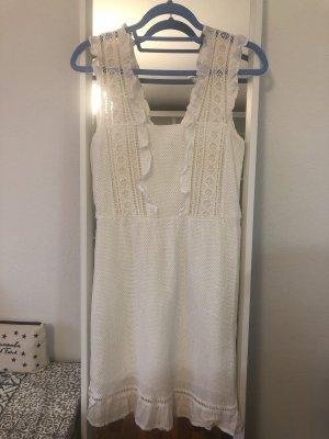 Mango Sukienka typu babydoll biały