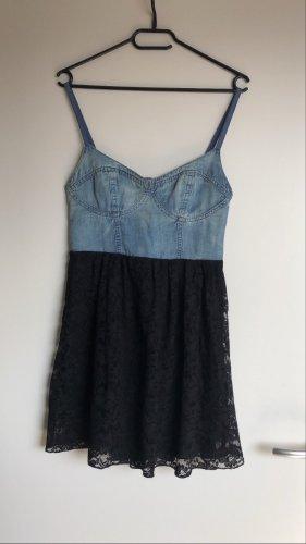 Tezenis Sukienka gorsetowa czarny-chabrowy