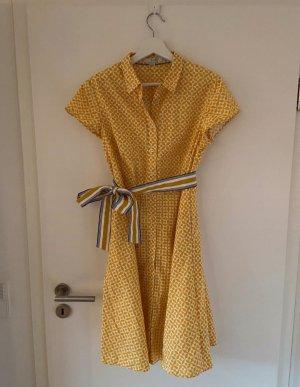 Boden Robe chemisier blanc-jaune