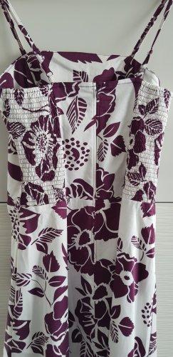 b.p.c. Bonprix Collection Robe épaules nues blanc-violet foncé