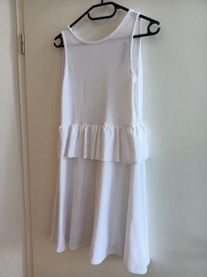 Boohoo Peplum jurk wit