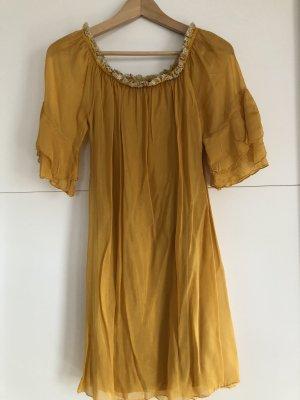 0039 Italy Vestido de Verano naranja dorado