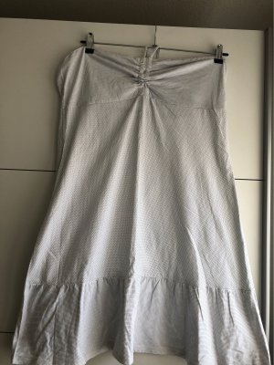 DREI MASTER Sukienka z dekoltem typu bandeau biały Bawełna