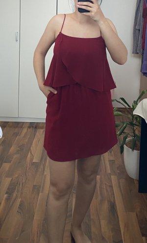 Mango Letnia sukienka głęboka czerwień