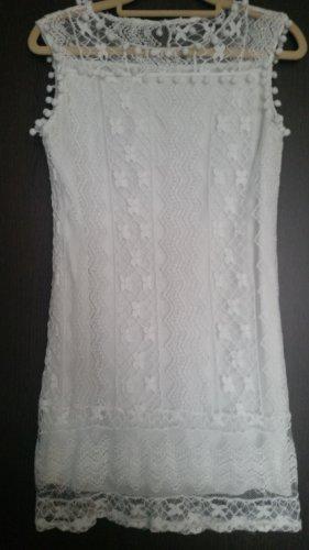 100% Fashion Robe de plage blanc